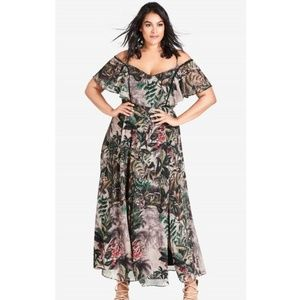 "City Chic ""Sacred Jungle"" Maxi dress"